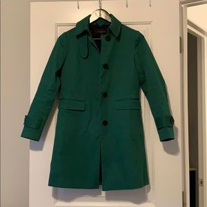 Ann Taylor Forest Green Trench Coat